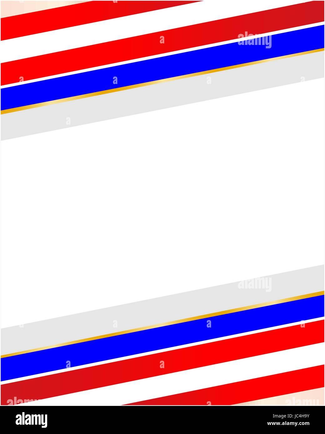 Abstrakte gestreiften USA Flagge Rahmen mit leeren Platz für Text ...
