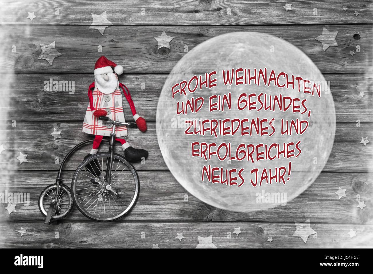 Frohe Weihnachten Und Ein Erfolgreiches Neues Jahr.Deutsche Weihnachtsgrußkarte In Rot Weiß Graue Farbe Mit Text Frohe