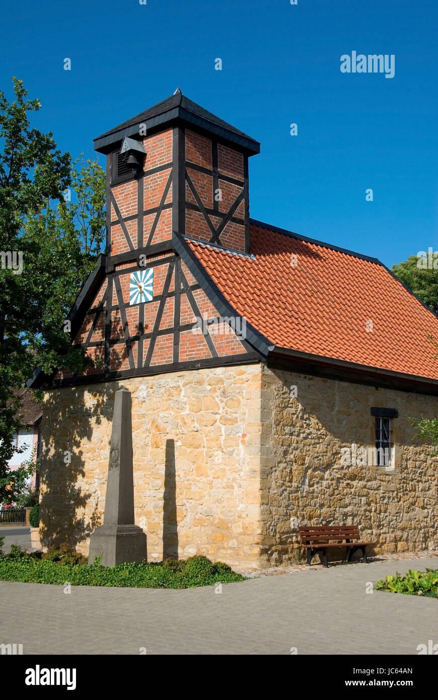 Deutschland, Niedersachsen, Ilsede, Buelten, alte Kapelle, 15. Jahrhundert, Deutschland, Niedersachsen, Alte Kapelle, Stockbild