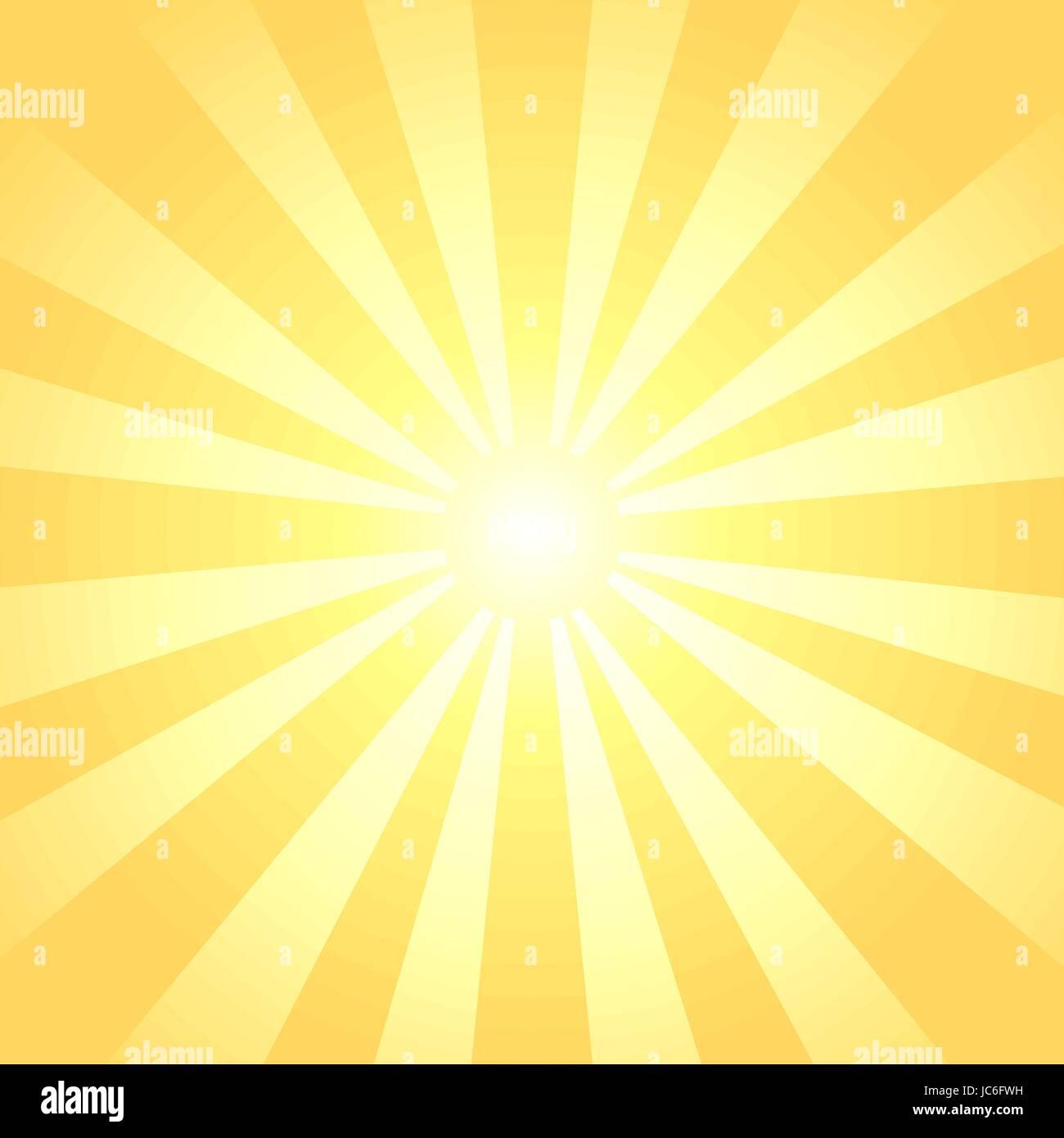 Sonnenstrahlen Hintergrund Stockbild