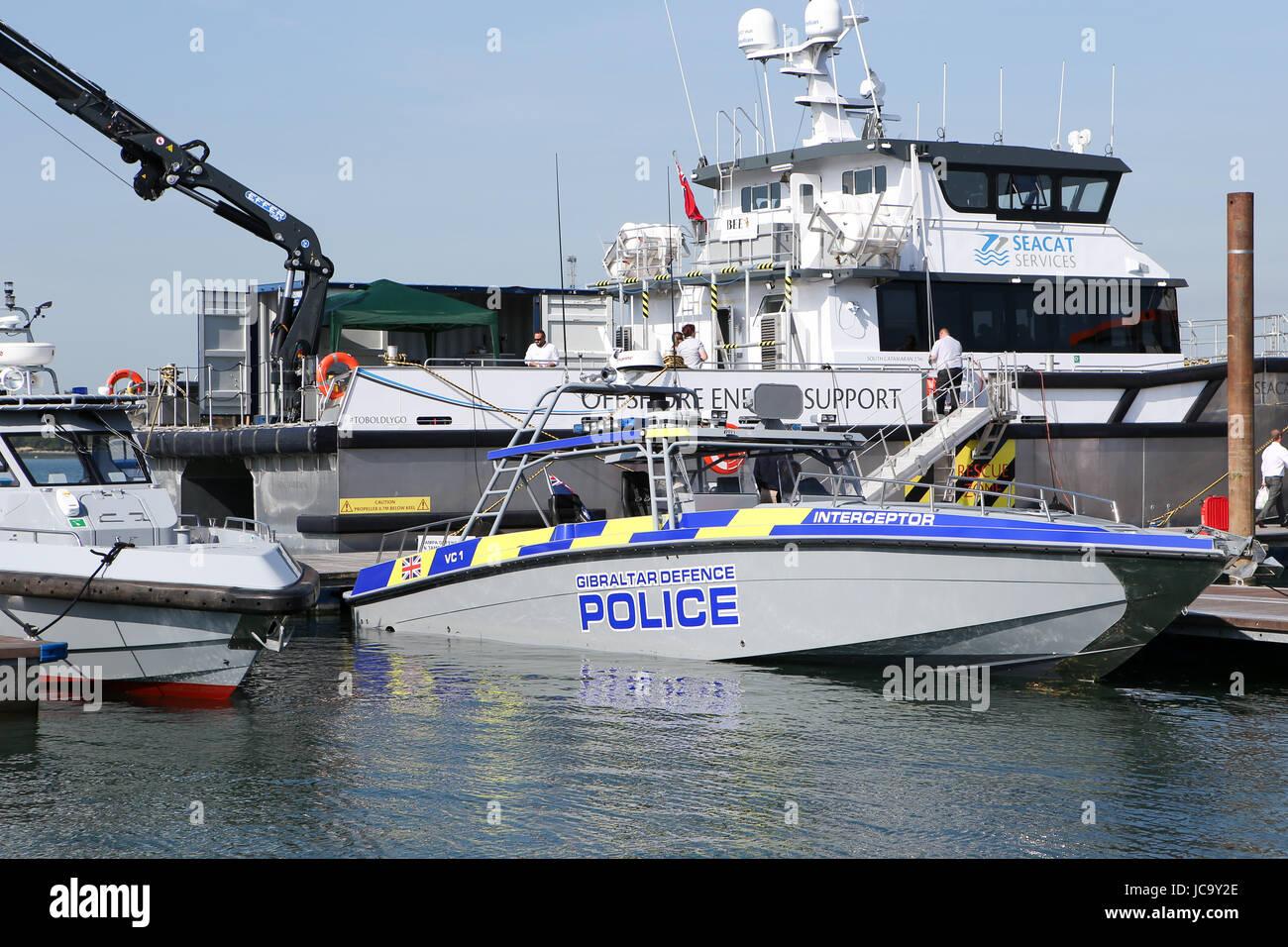 Southampton, Großbritannien. 14 Juni, 2017. Seawork International, 2017 Mayflower Park, Southampton, Großbritannien Stockbild