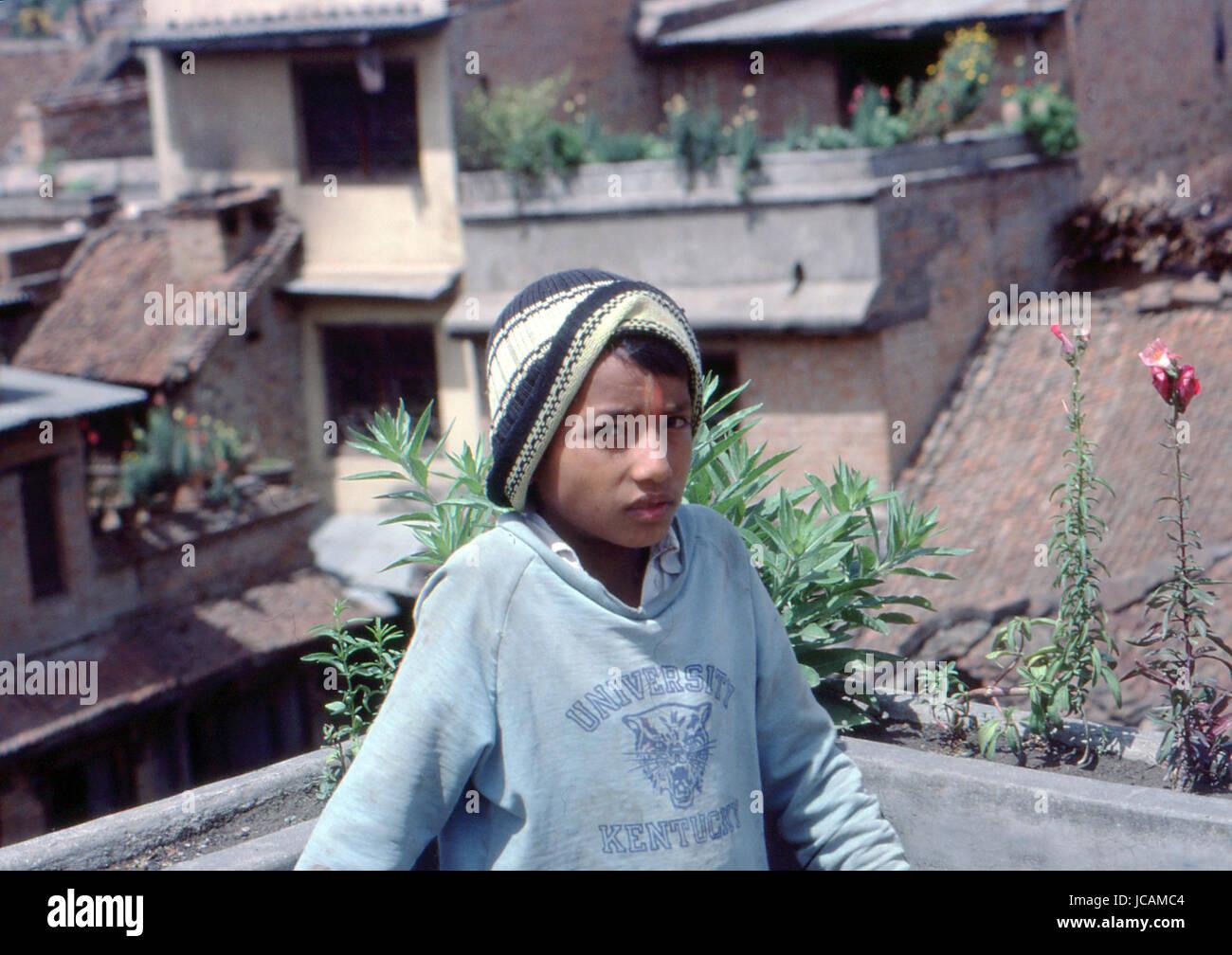 Reportage-Nepal 1980. Katmandu, Stockbild