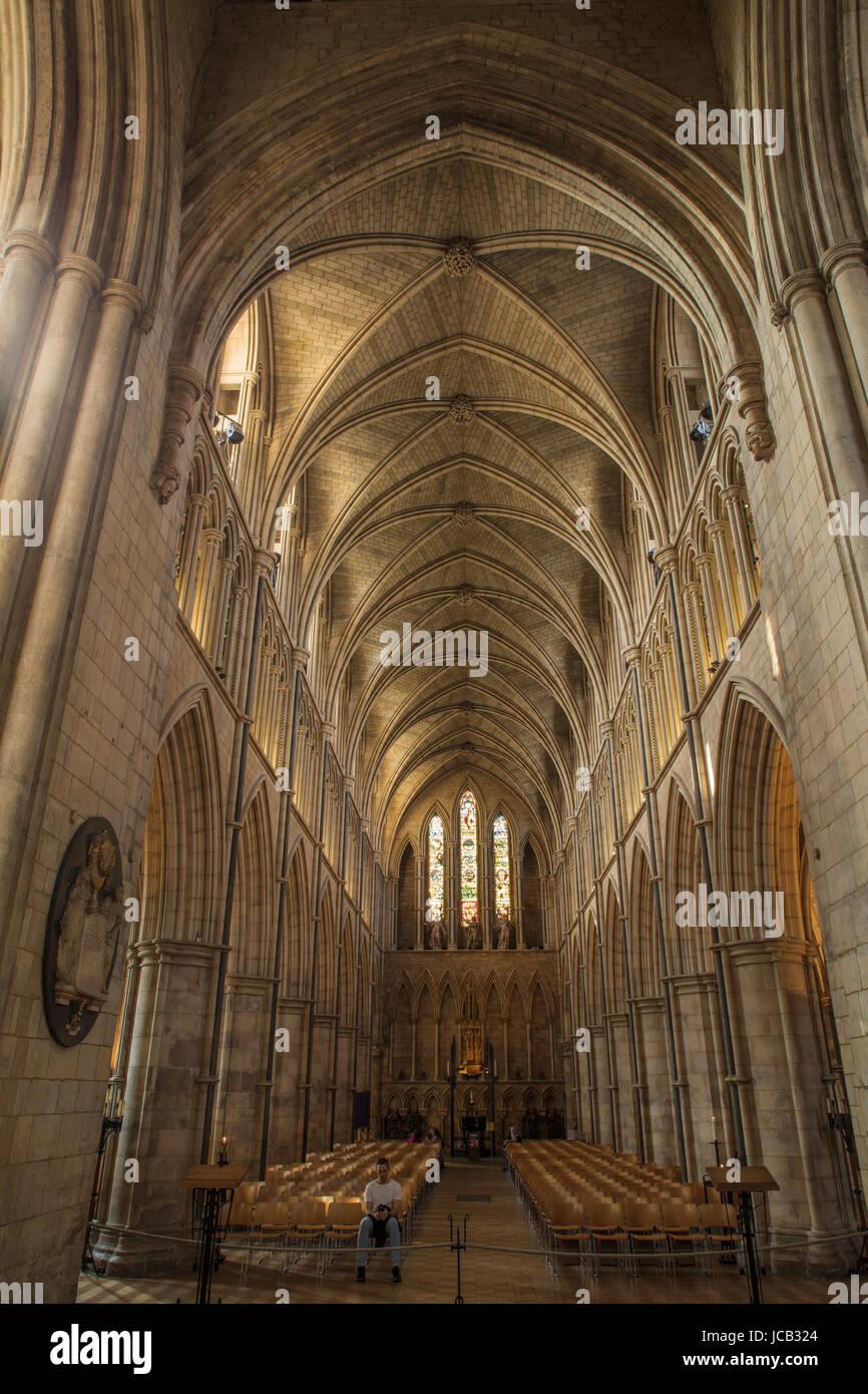 Southwark Cathedral gewölbte Decke Stockfoto