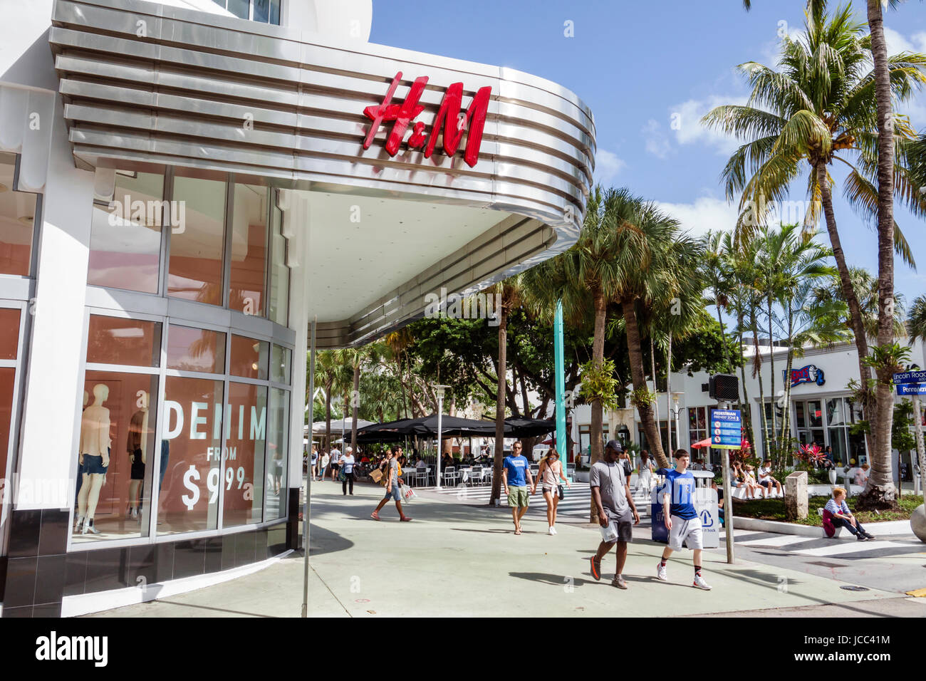 miami beach, florida fußgängerzone lincoln road mall store