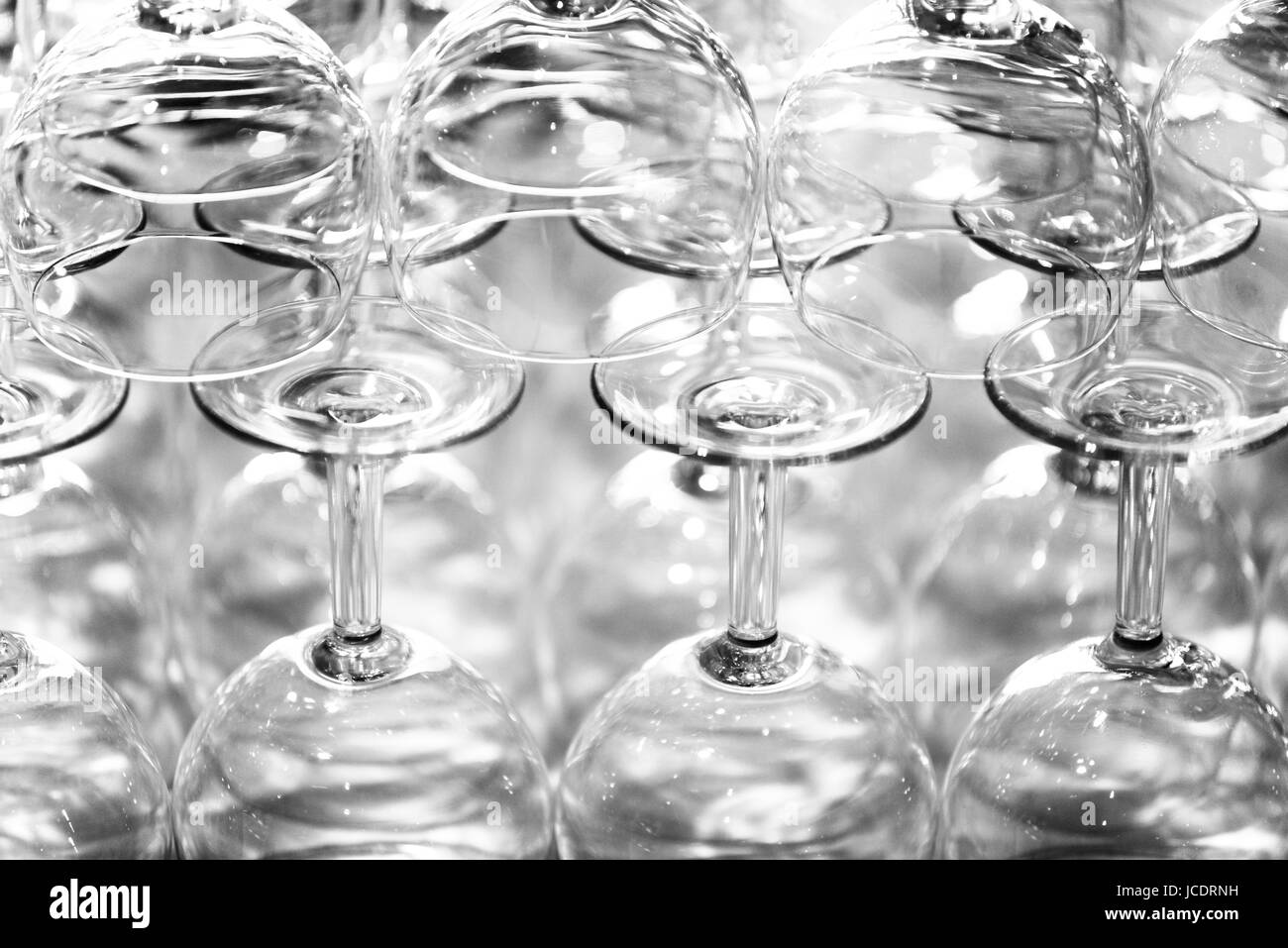 Stapel Mit Weingläsern Stockbild