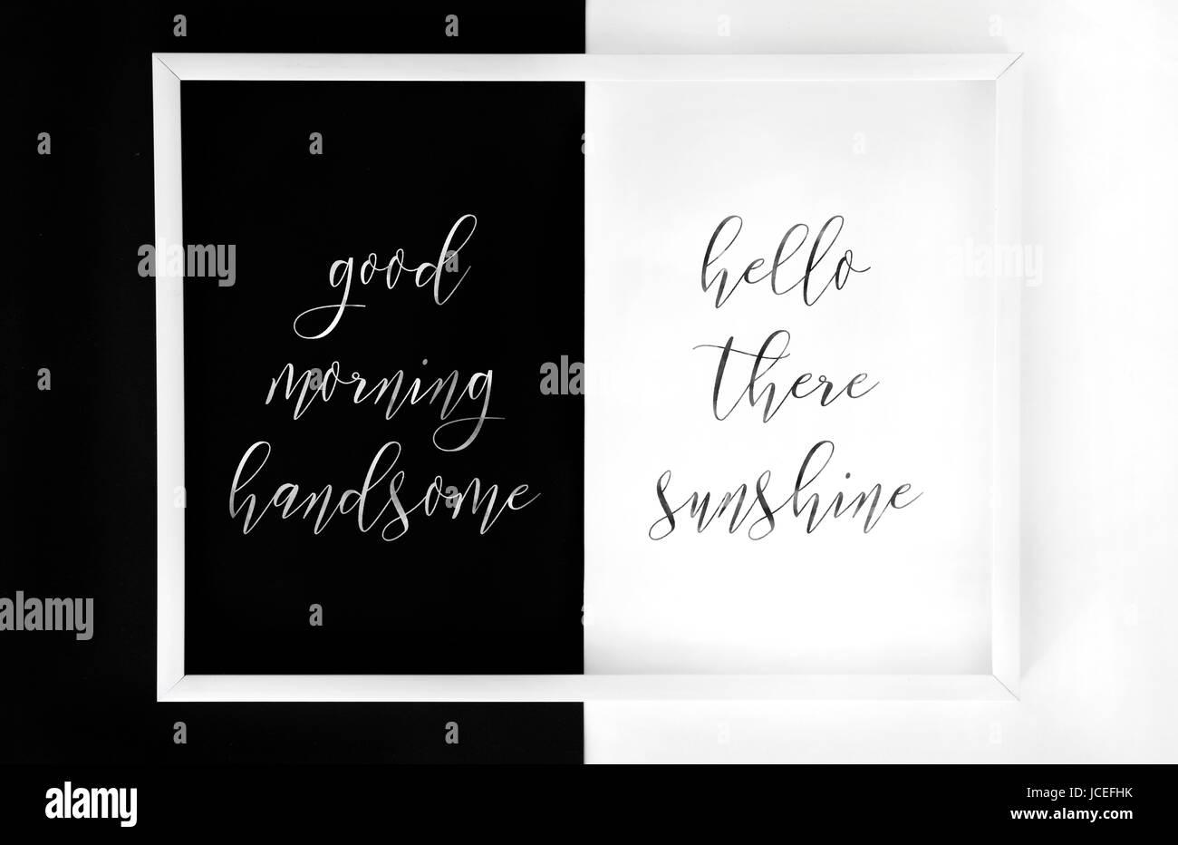 Good Morning Lettering Stockfotos & Good Morning Lettering Bilder ...