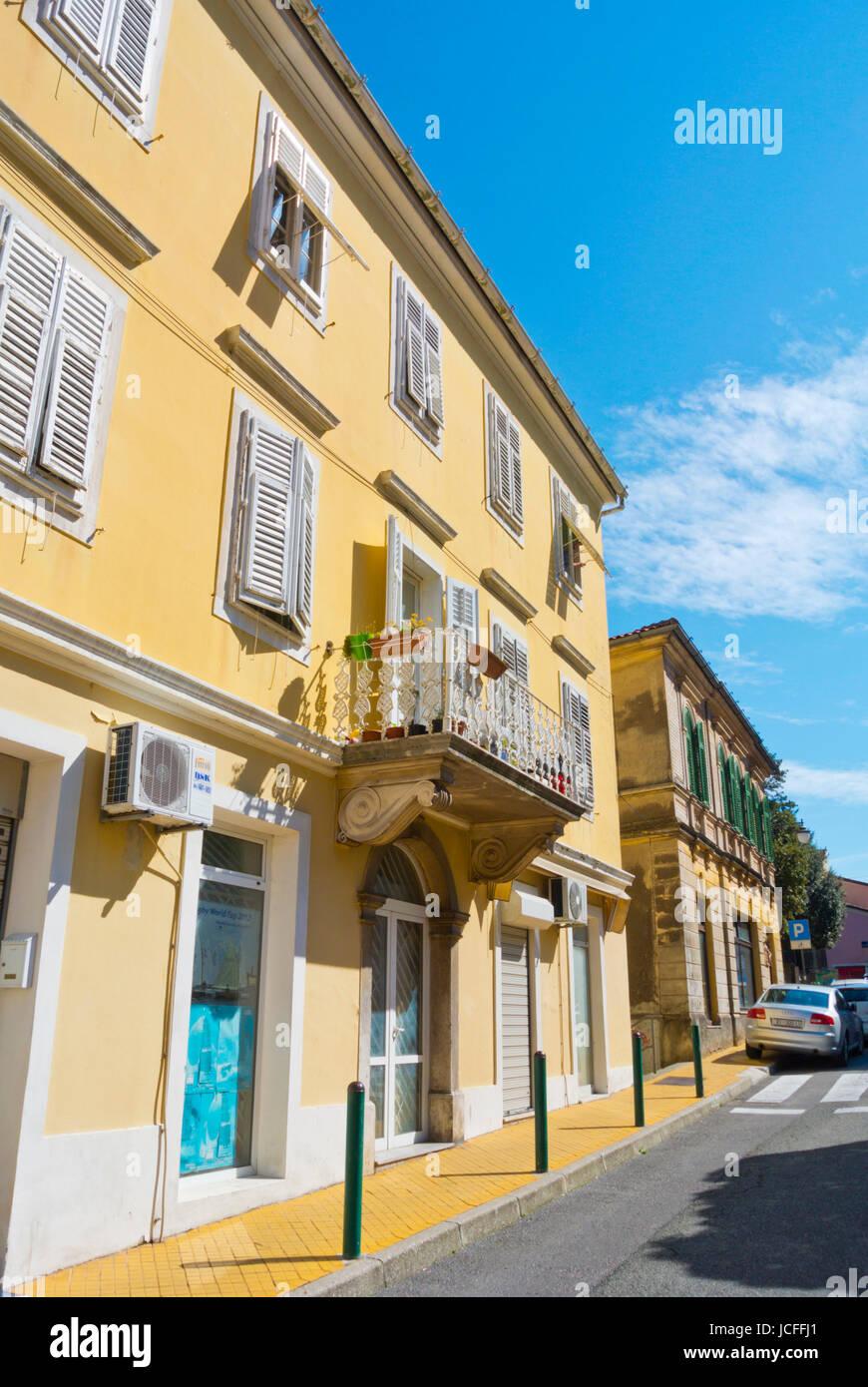Volosko, einem Stadtteil von Opatija, Kvarner Bucht, Kroatien Stockbild