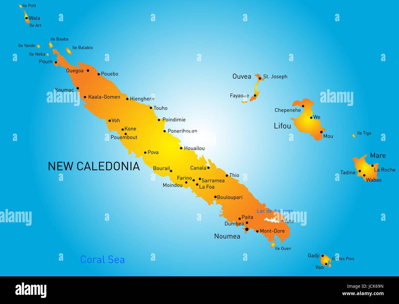 neukaledonien karte Neukaledonien Karte Stockfotos & Neukaledonien Karte Bilder   Alamy