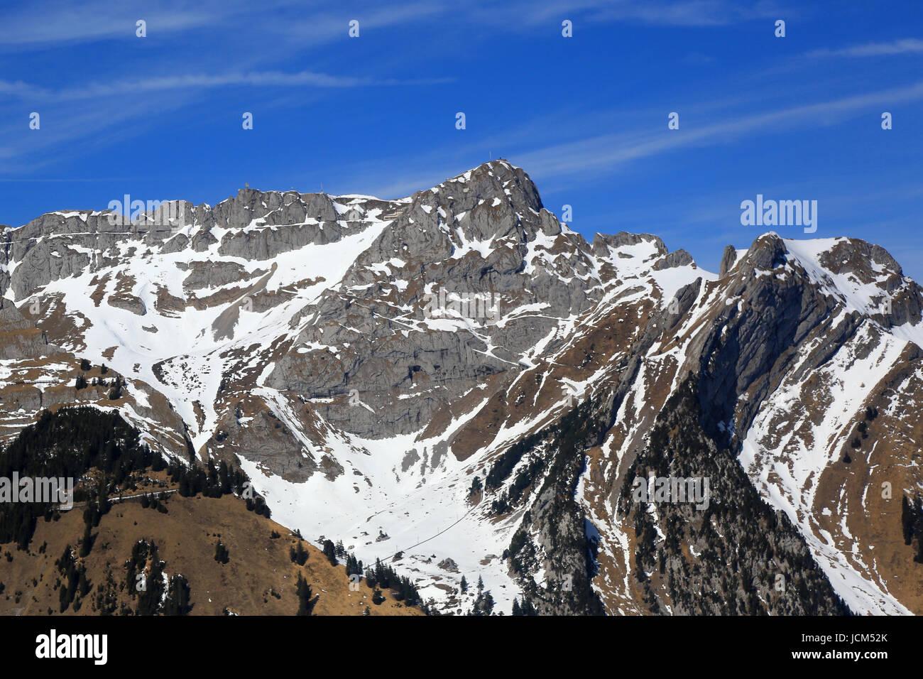 Pilatus Berg der Schweiz Schweizer Alpen Berge Luftbild Fotografie Foto oben Stockbild
