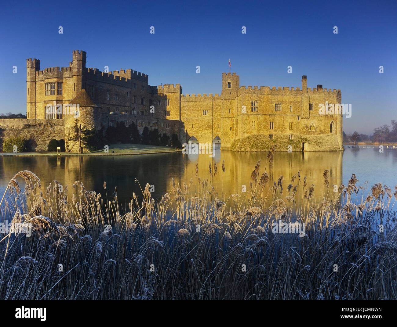Frostiger Morgen am Leeds Castle. Kent. England. UK Stockbild