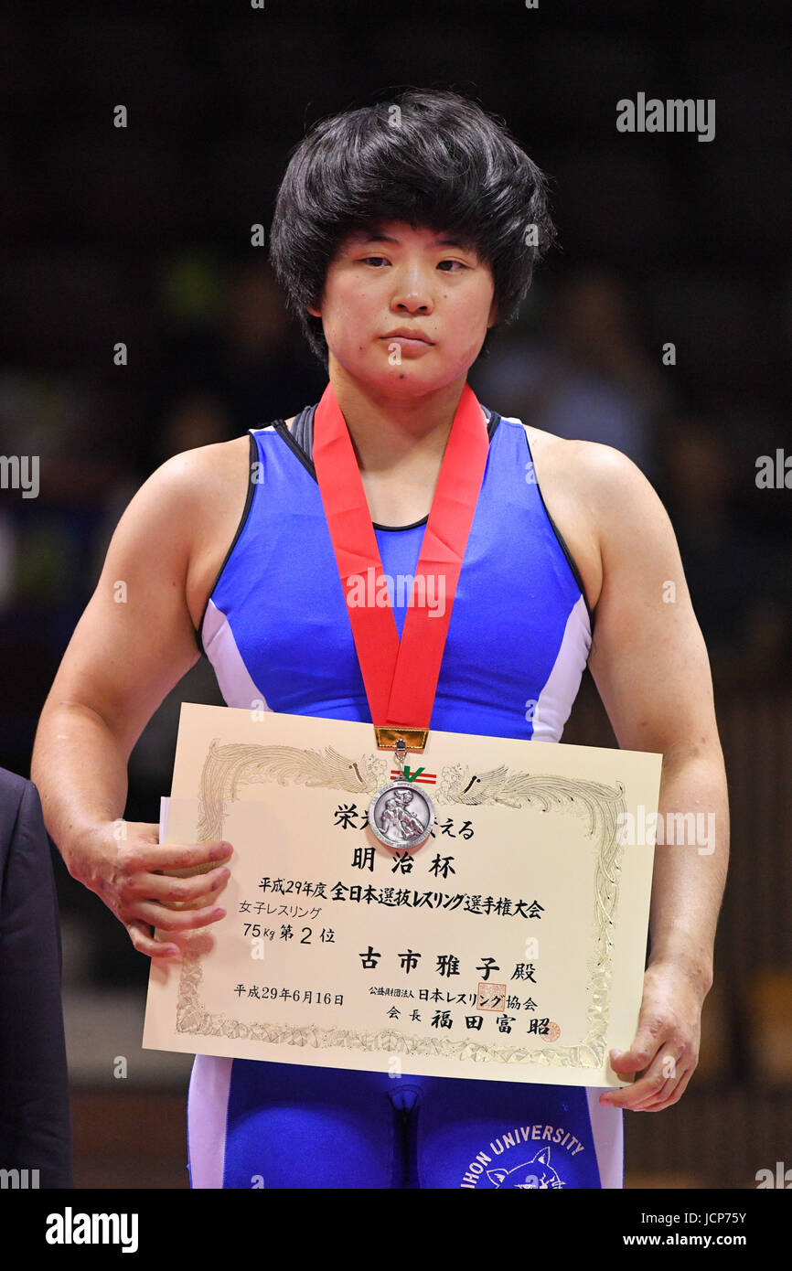 Nd Yoyogi Gymnasium, Tokio, Japan. 16. Juni 2017. 、 Masako Furuichi, 16. Juni 2017 - Wrestling: Meiji Cup alle Japan Stockfoto