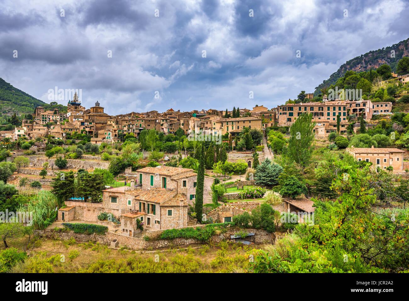 Valldemossa, Mallorca, Spanien-Dorf. Stockbild