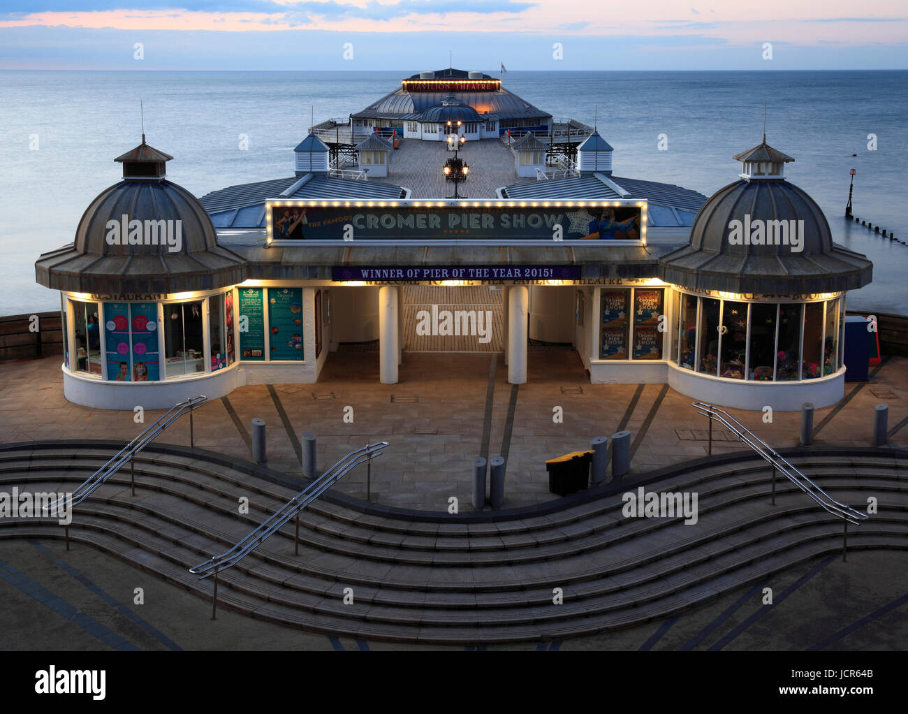 Der traditionelle Pier am Cromer, North Norfolk, England, Europa Stockbild