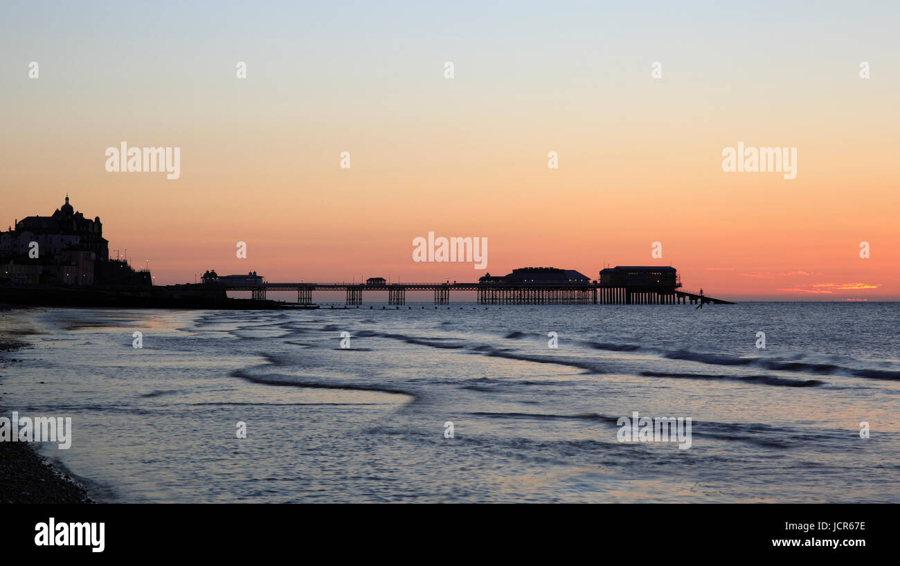 Abenddämmerung am Cromer, North Norfolk, England, Europa Stockbild