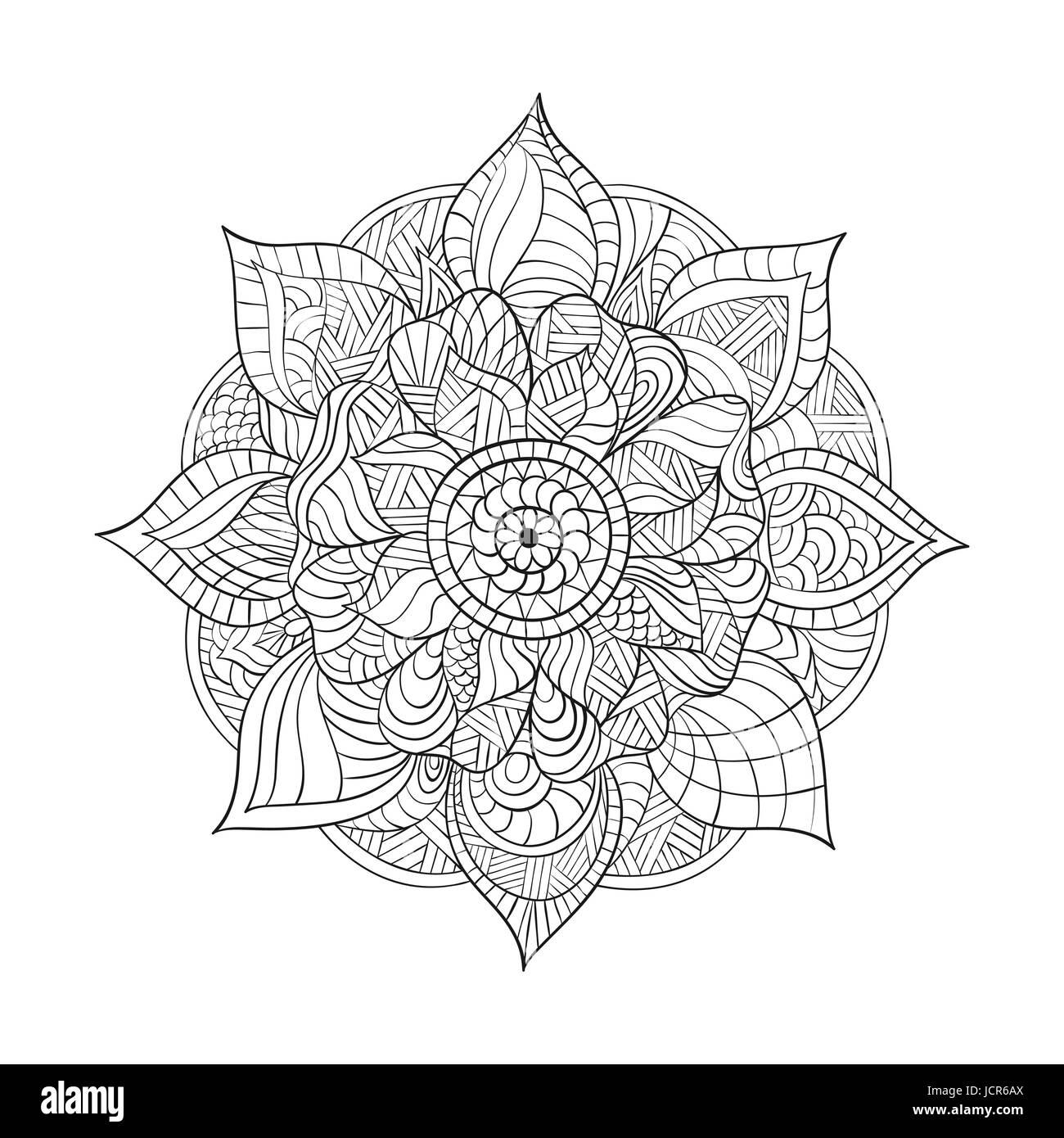 Vektor Dekorative Mandala Für Erwachsene Malbüchern Ethnische