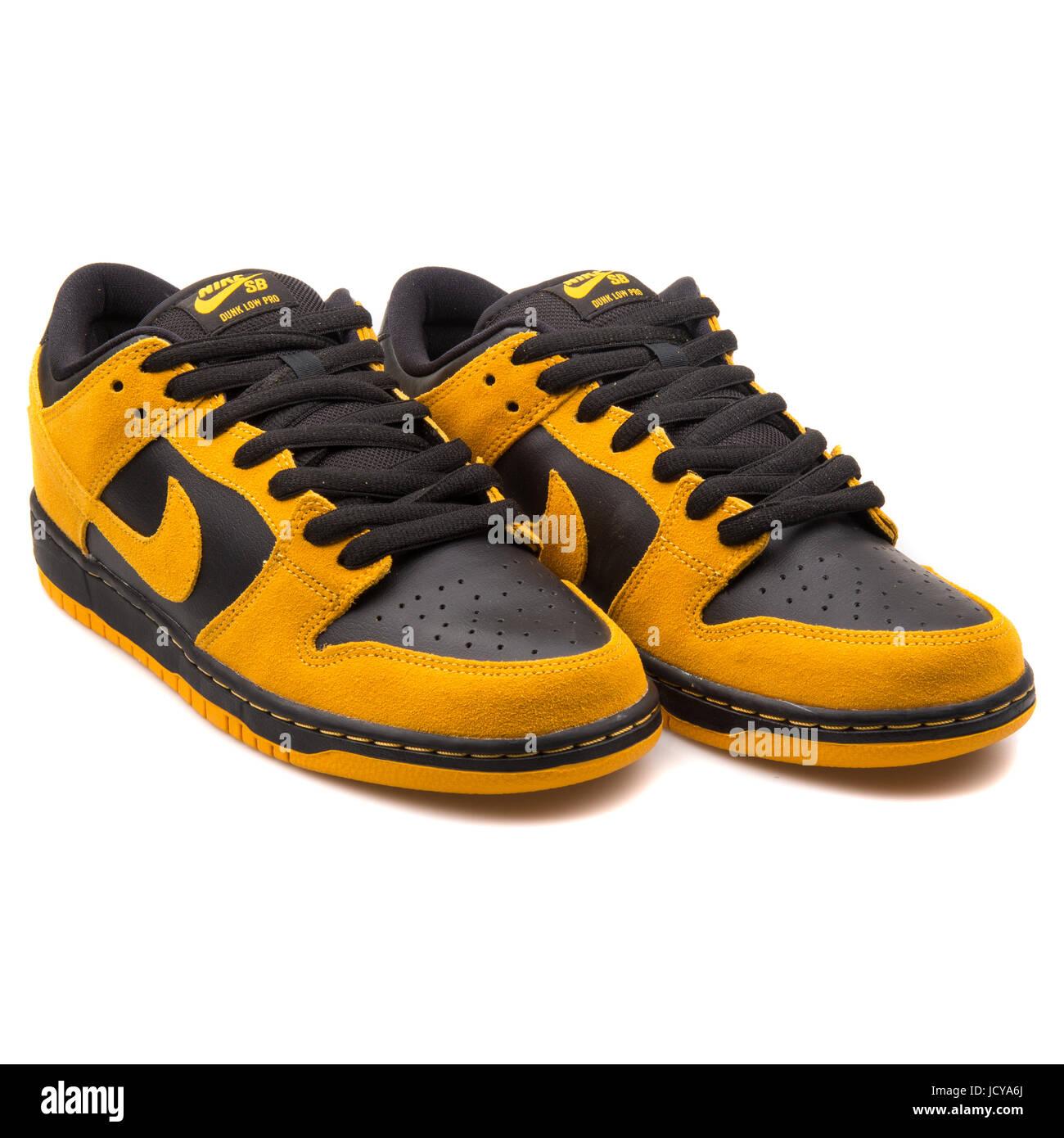 Nike Dunk Low Pro SB Gold Gelb und schwarz Herren Skateboarding Schuhe -  304292-706 790501a7c8