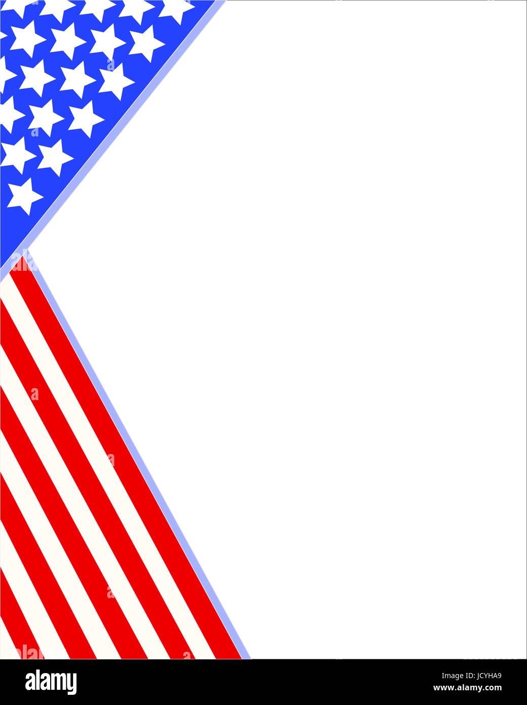 Us Flag Patriotic Border Template Stockfotos & Us Flag Patriotic ...