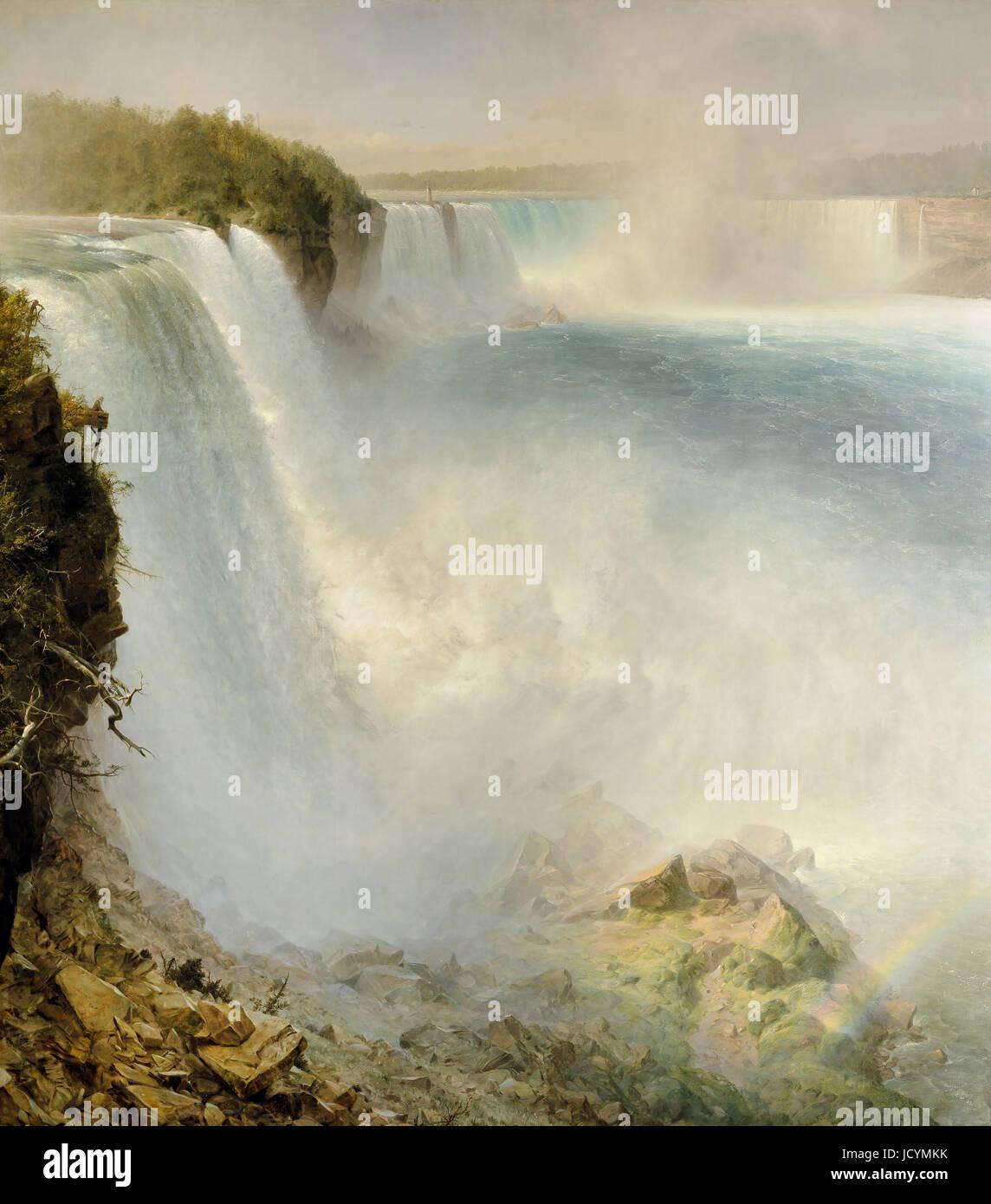 Frederick Edwin Church, Niagara Falls, von der amerikanischen Seite 1867-Öl auf Leinwand. Scottish National Stockbild