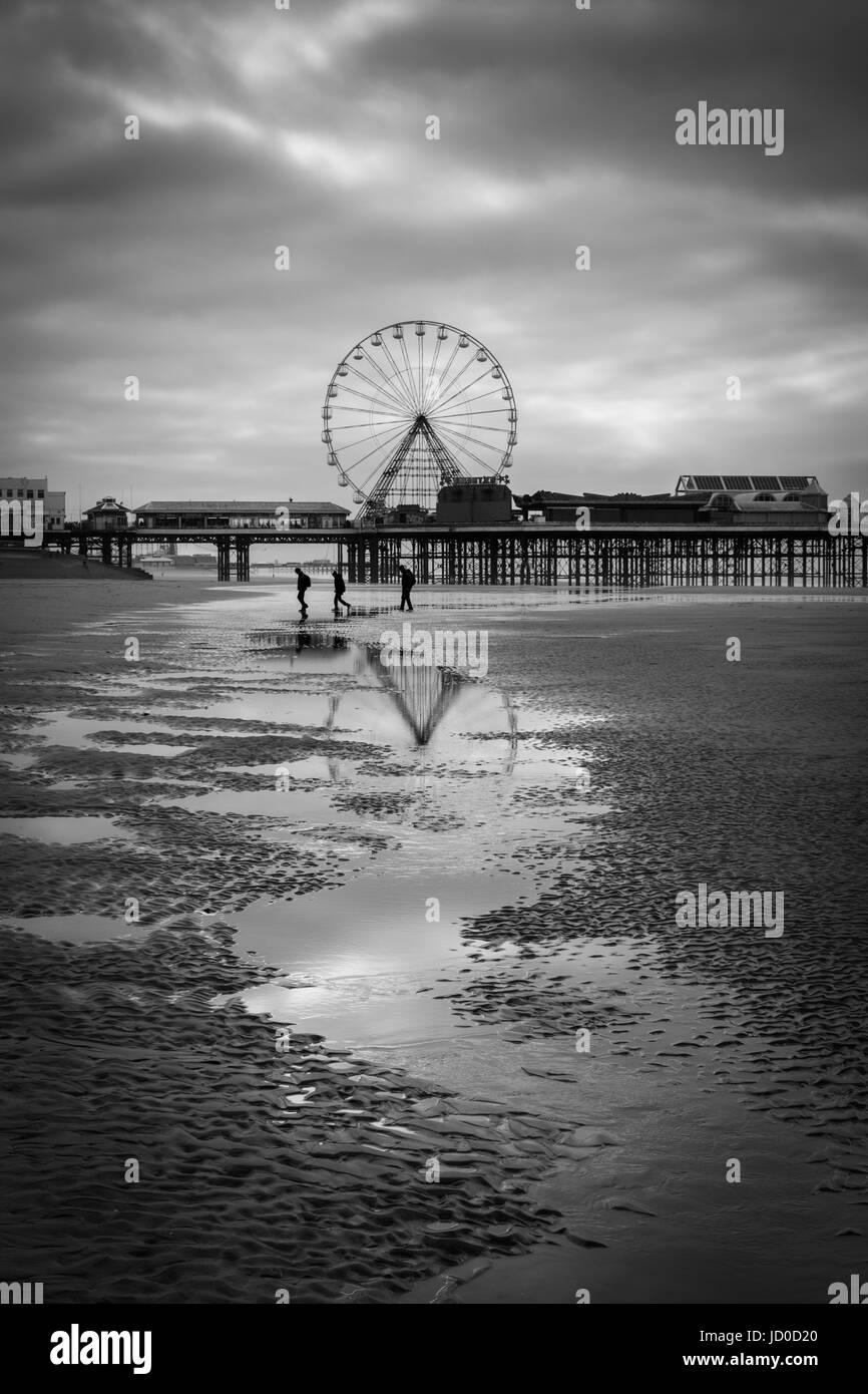 Blackpool-Riesenrad Stockbild