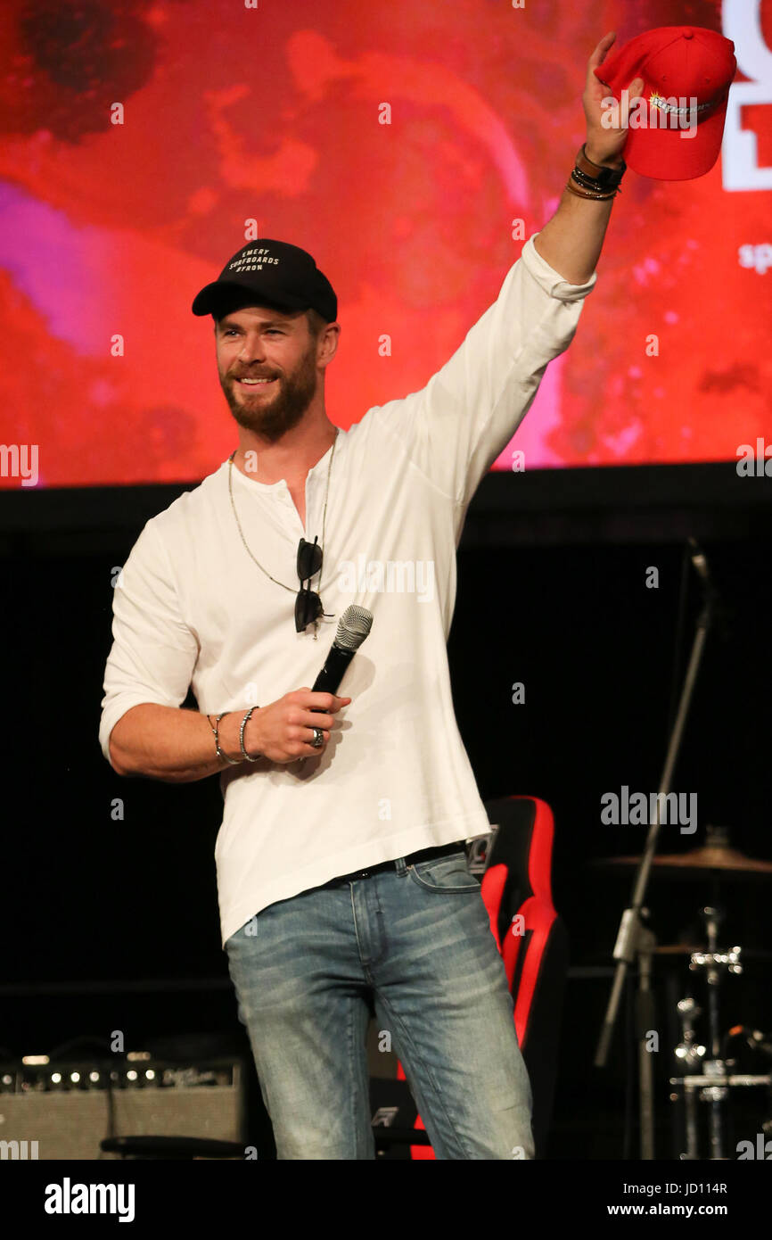 Sydney, NSW, Australien. 18. Juni 2017. Chris Hemsworth besucht Supanova Comic Con Sydney 2017 Credit: Christopher Stockbild