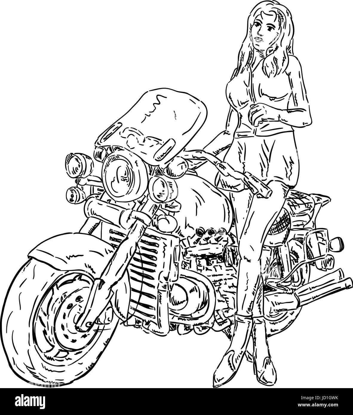 Isoliert Farbe Illustration Malen Zeichnen Madchen Madchen