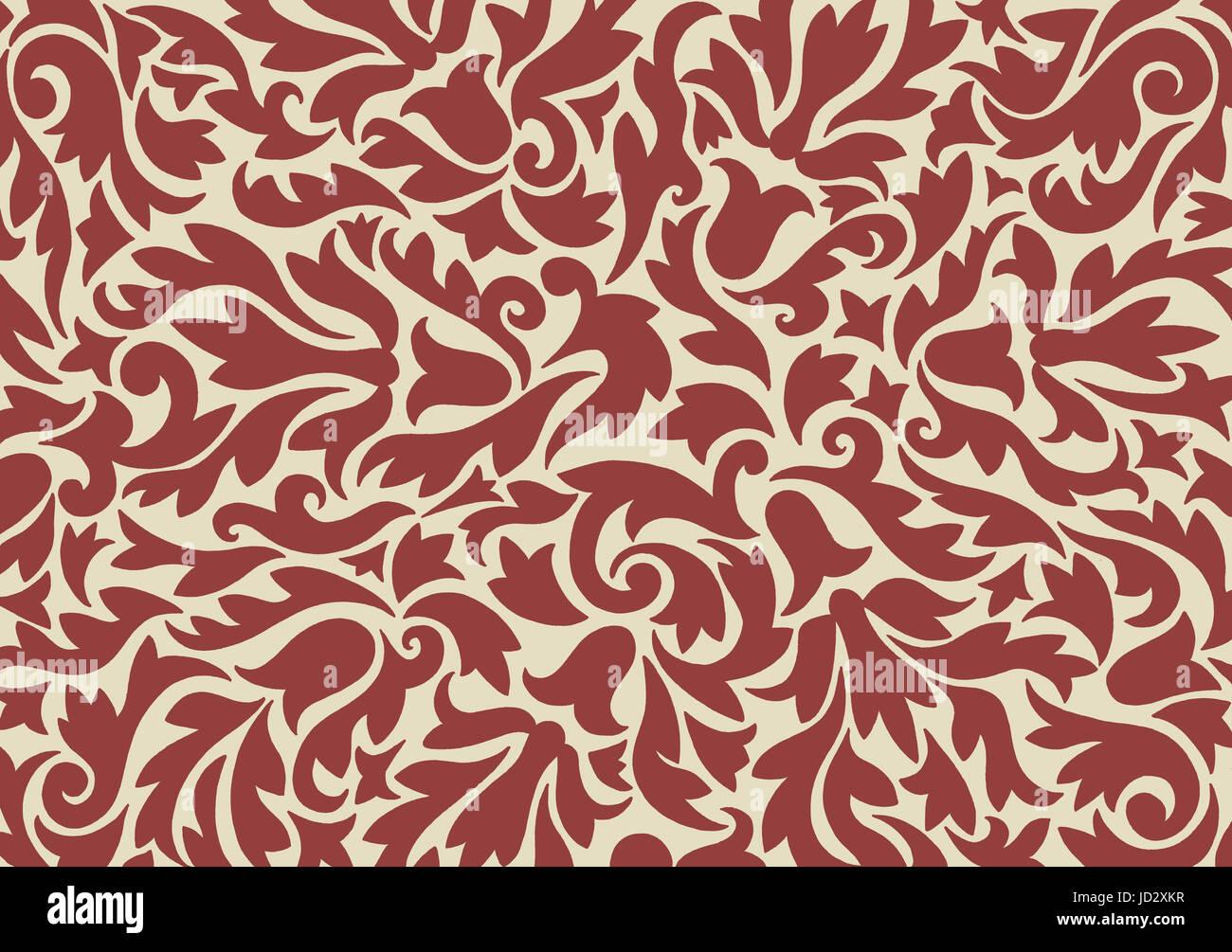 Eine Hand gezeichnete nicht wiederholende Muster inspiriert von mittelalterlichen Entwürfen Stockbild