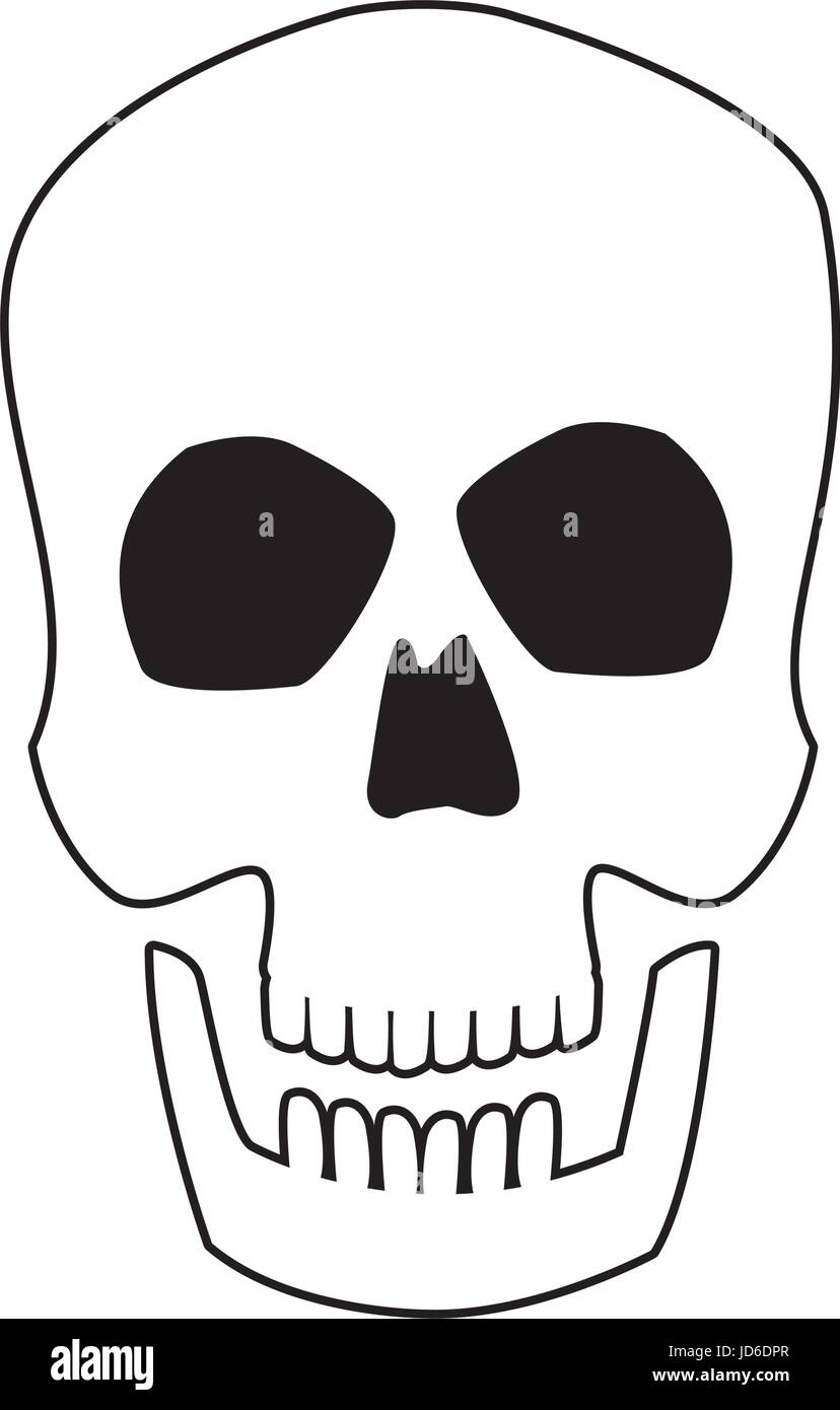 menschlicher Schädel Kopf Knochen Medizin-Konzept Vektor Abbildung ...