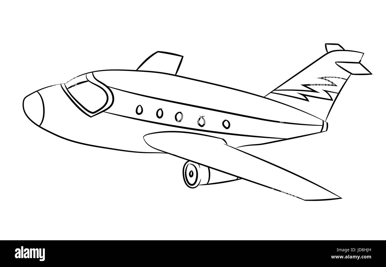 flugzeug schwarz wei u00df cartoon vektor illustration f u00fcr coloring book linie gezeichnet vektor Kite Vector paper airplane vector free