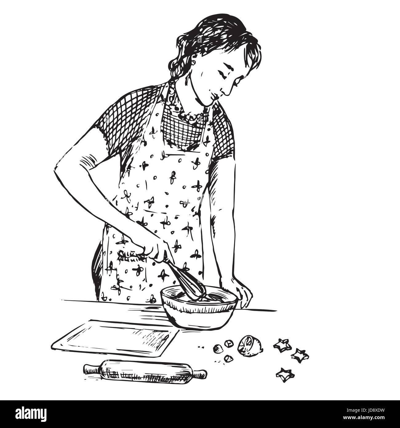 Hausfrau wird schwarz