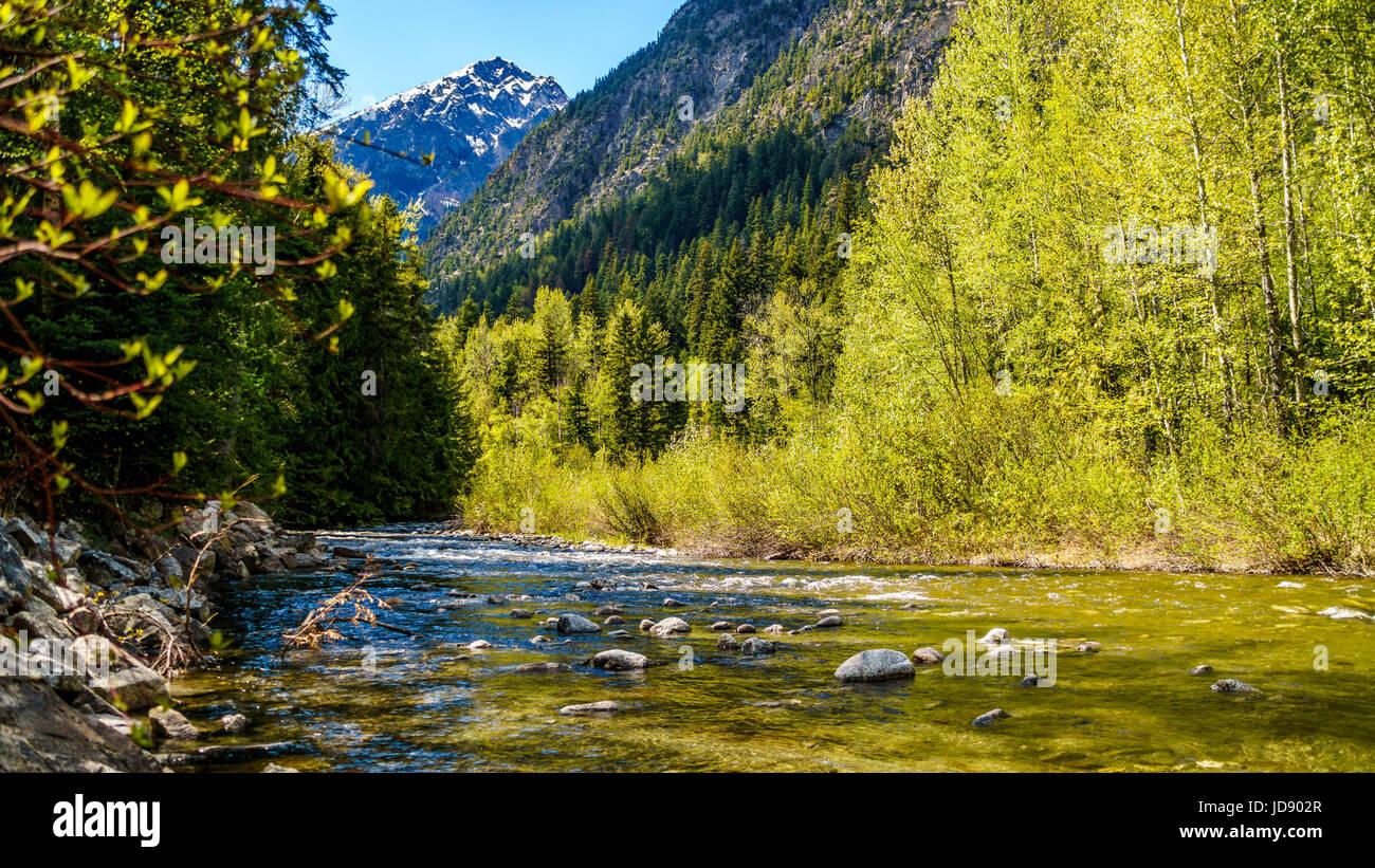 Aussprache Cayoosh Creek Zwischen Duffey Lake Und Seton See Es Luft Neben Der Autobahn 99 Die Road Lillooet Pemberton BC