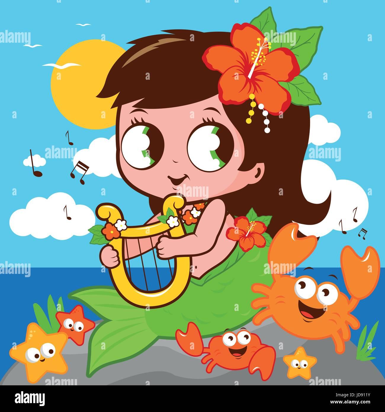 Mermaid Cartoon Stockfotos & Mermaid Cartoon Bilder - Seite 3 - Alamy