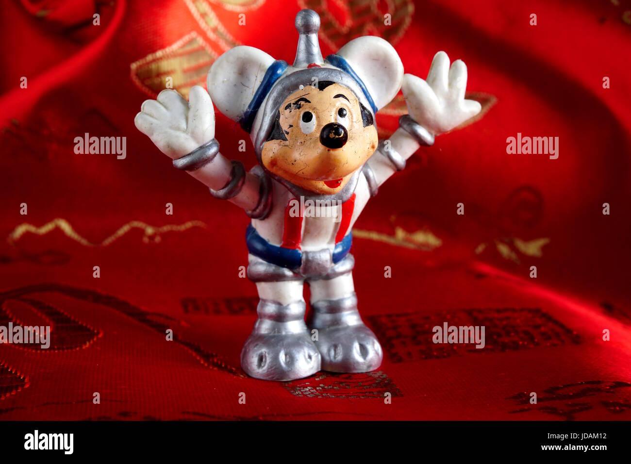 Spaceman Mickey-Mouse-Spielzeug Stockbild