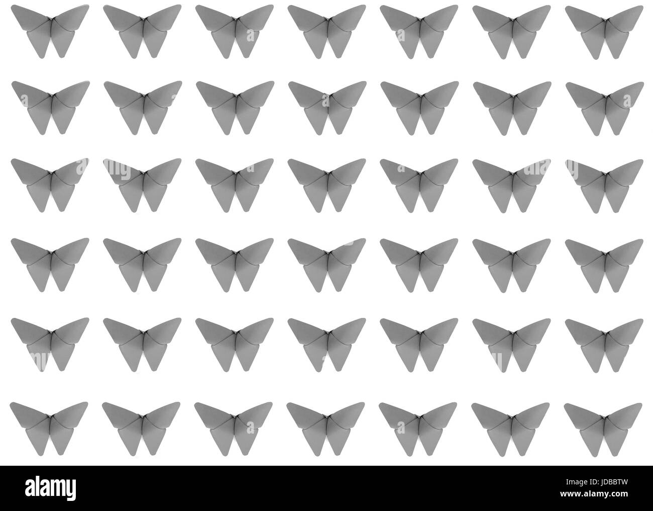 Origami Schmetterlinge Muster in Graustufen Stockbild