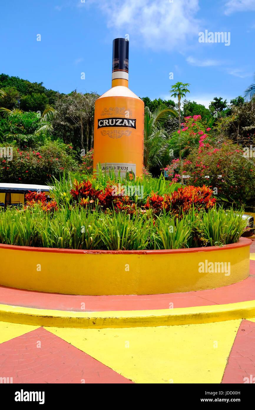 Großen Cruzan Rum Flasche bei Mountain Top Geschenk Shop St. Thomas Jungferninseln USVI Caribbean uns Gebiet Stockbild