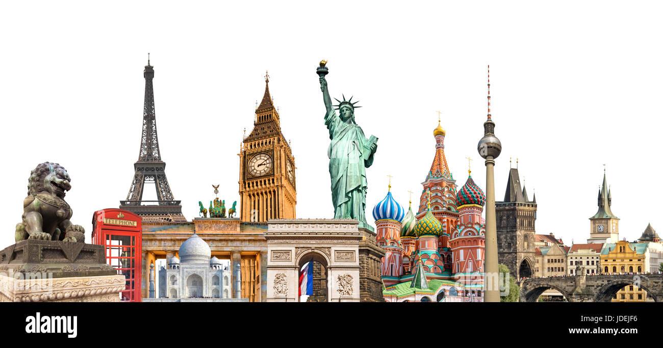 collage von sehensw252rdigkeiten von london stockfotos