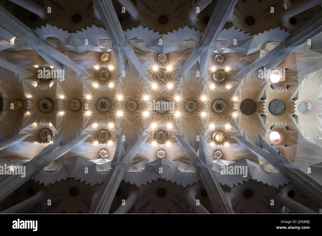 La Sagrada Familia, Barcelona, Katalonien, Spanien Stockbild