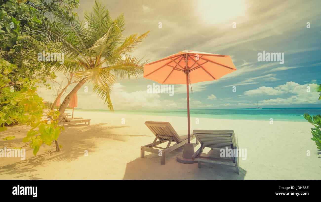 Inspirierende Bilder schöner strand landschaft sommer urlaub und ferien konzept