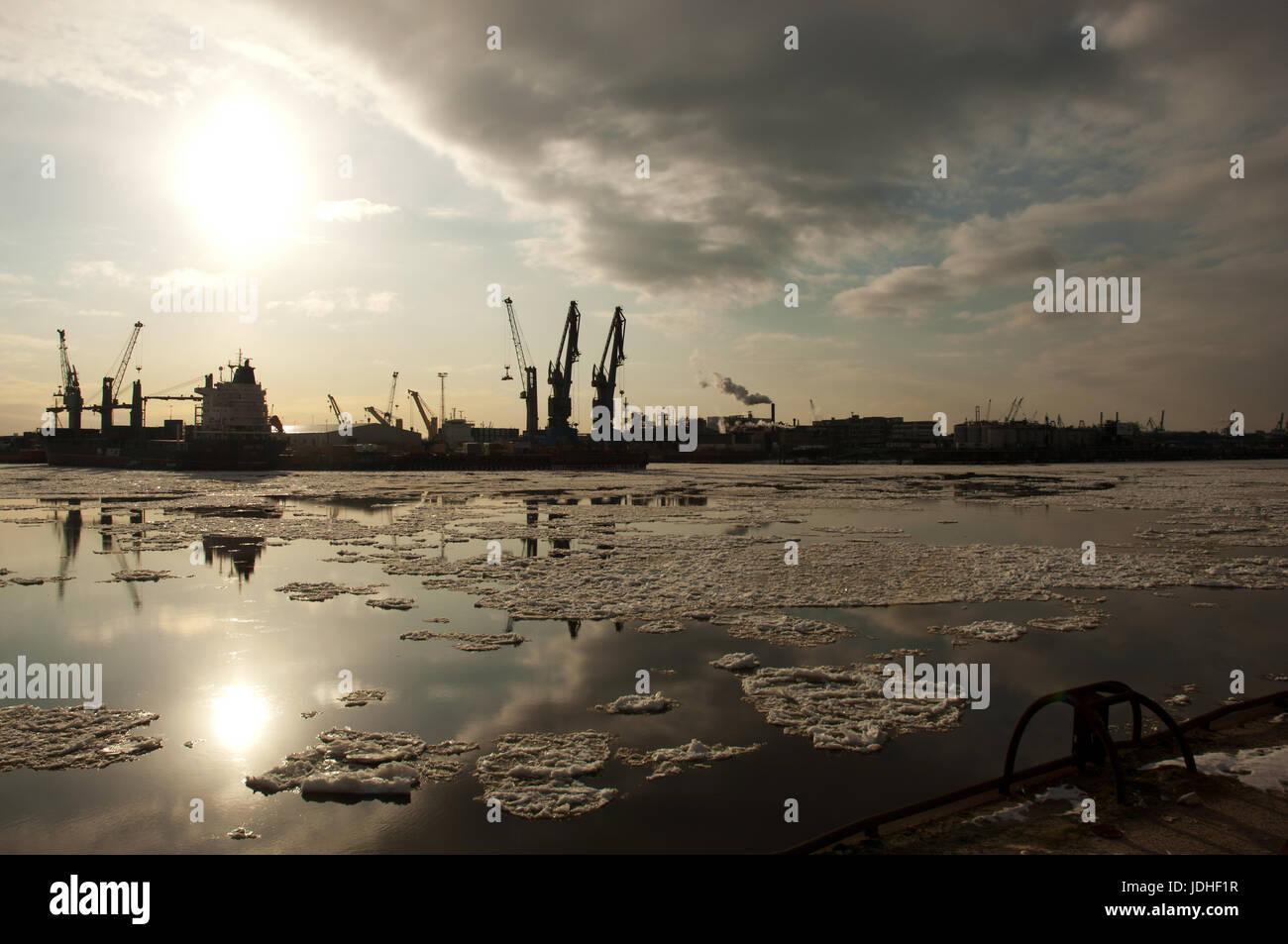 Hamburger Hafen Stockbild