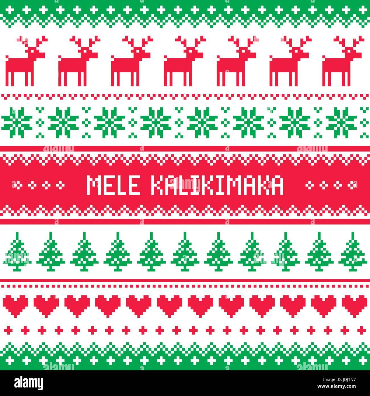 Frohe Weihnachten Hawaii.Mele Kalikimaka Frohe Weihnachten In Hawaii Grußkarte Nahtlose