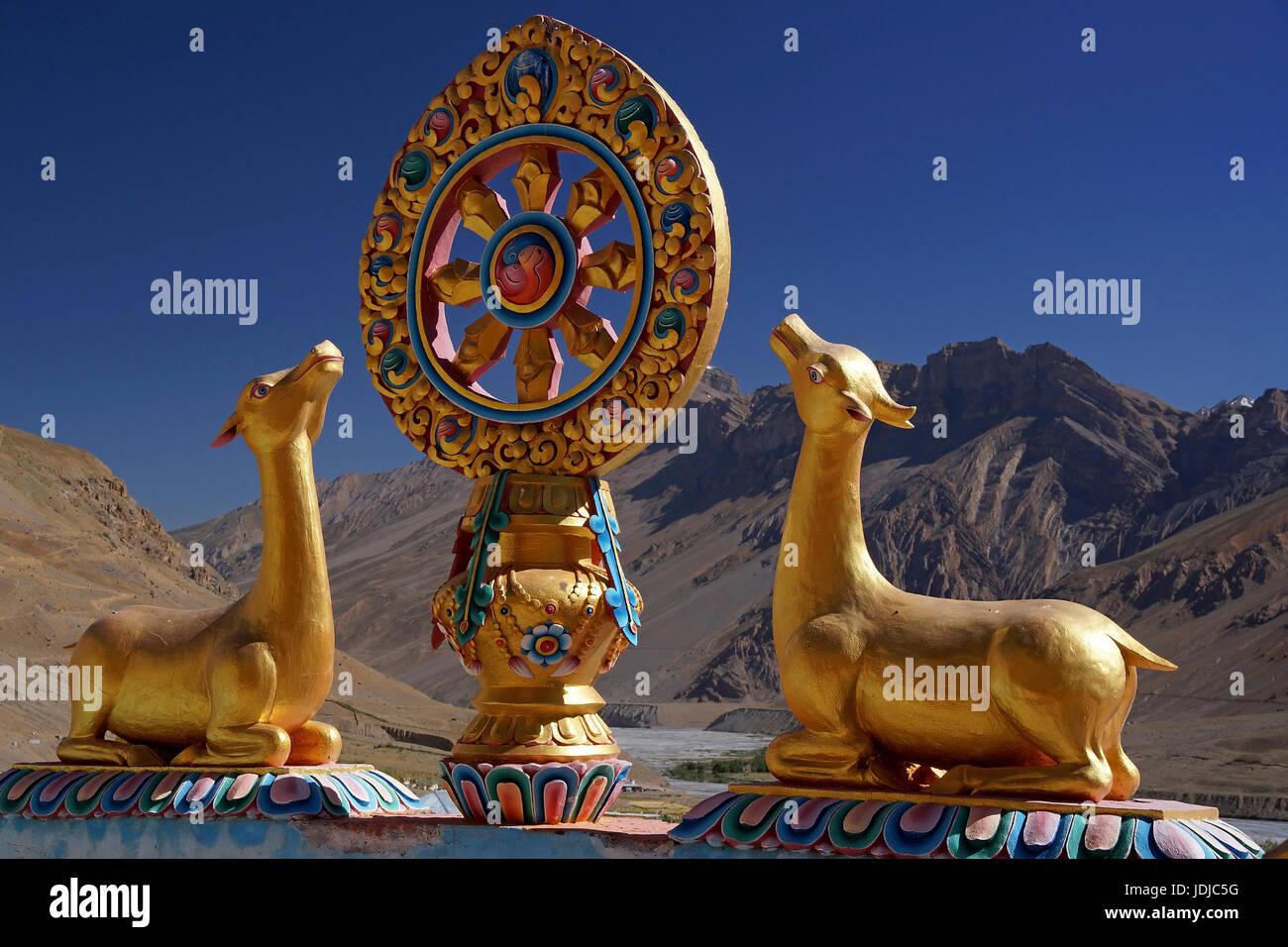 Asien, Indien, Nord-Indien, Kreuzgang des Schlüssels in Spiti, Asien, Indien, Nordindien, Kloster Schlüssel Stockbild