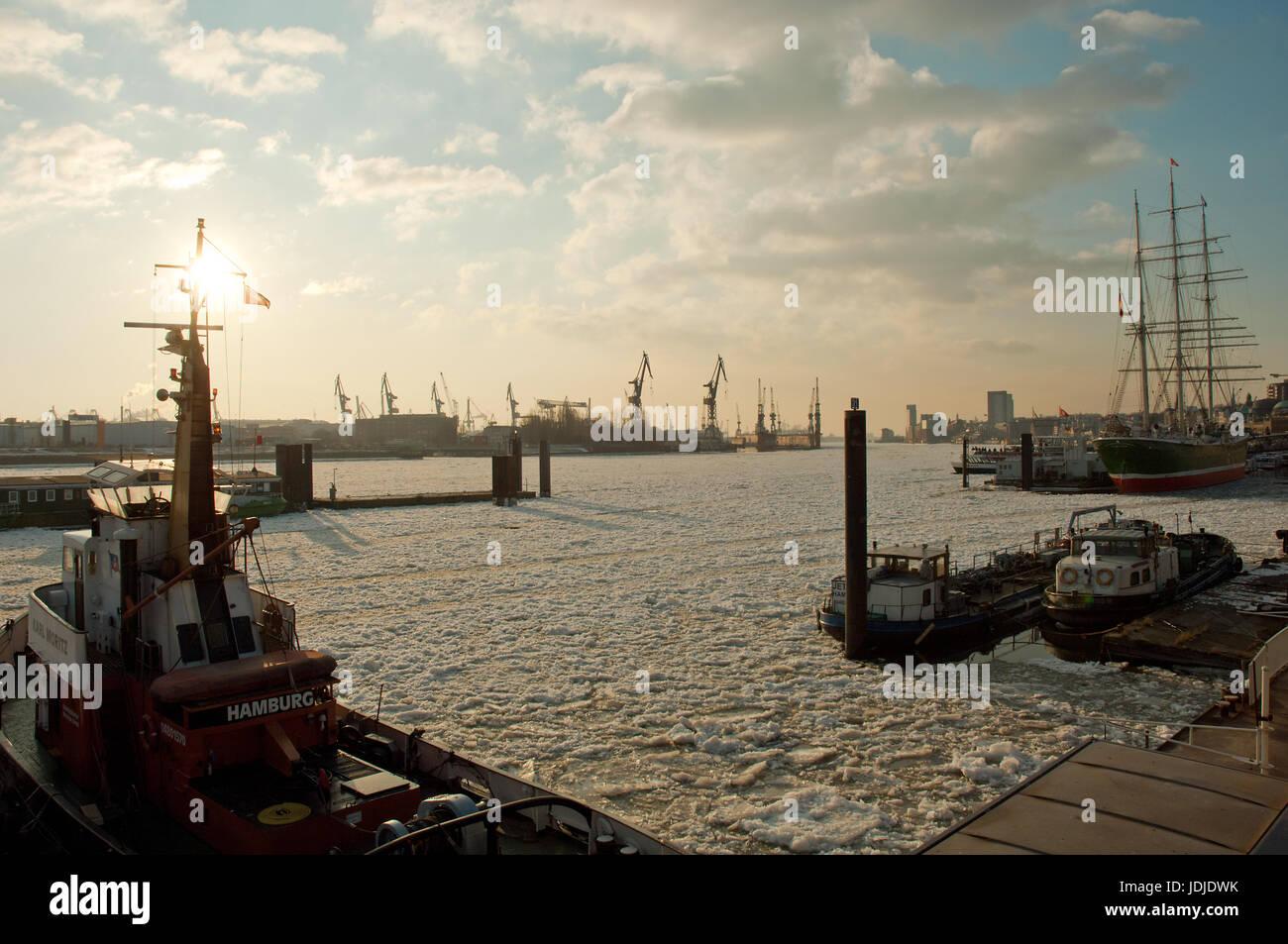 Hamburg Hafen Stockbild