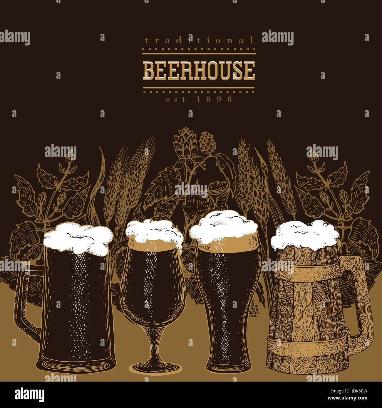 Beer Hand Drawn Stockfotos & Beer Hand Drawn Bilder - Alamy