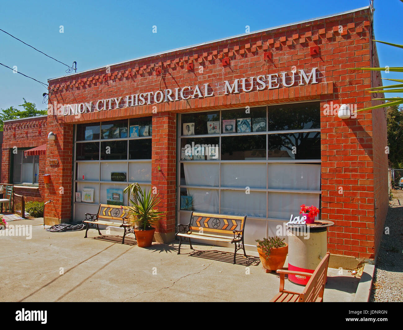 Union City historisches Museum, Kalifornien Stockbild
