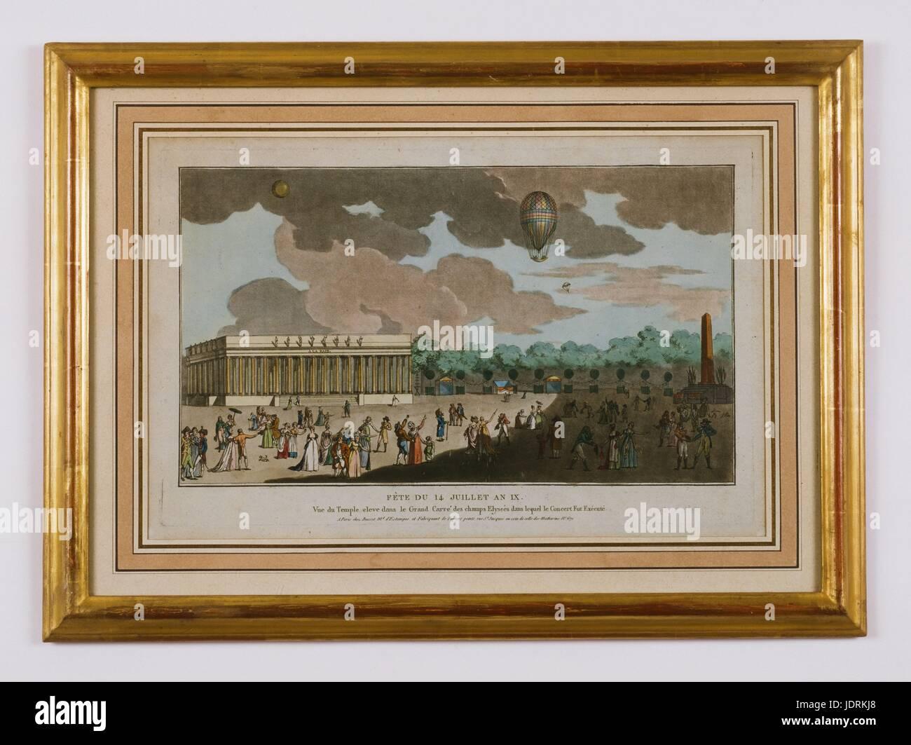 14. Juli 1801 Feier (25 Messidor de l IX nach republikanischen ...