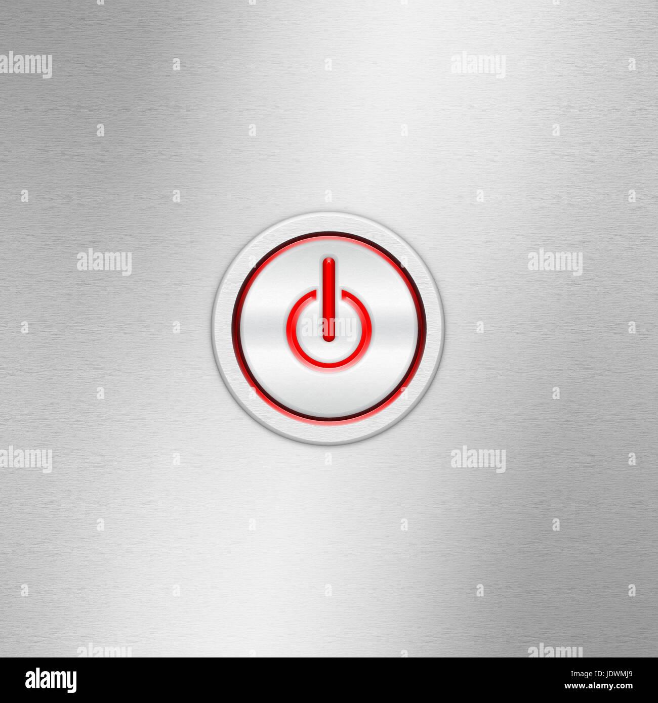 Benutzer-Schnittstelle-Schalter (On/Off). Ein-/Ausschalter auf einem ...