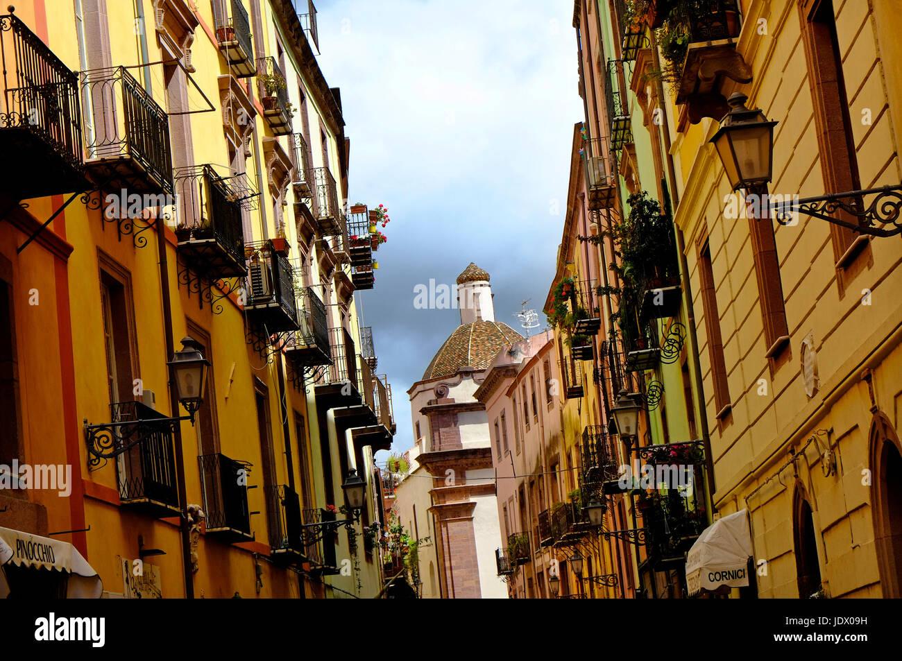 Bosa, Sardinien, Italien Stockbild