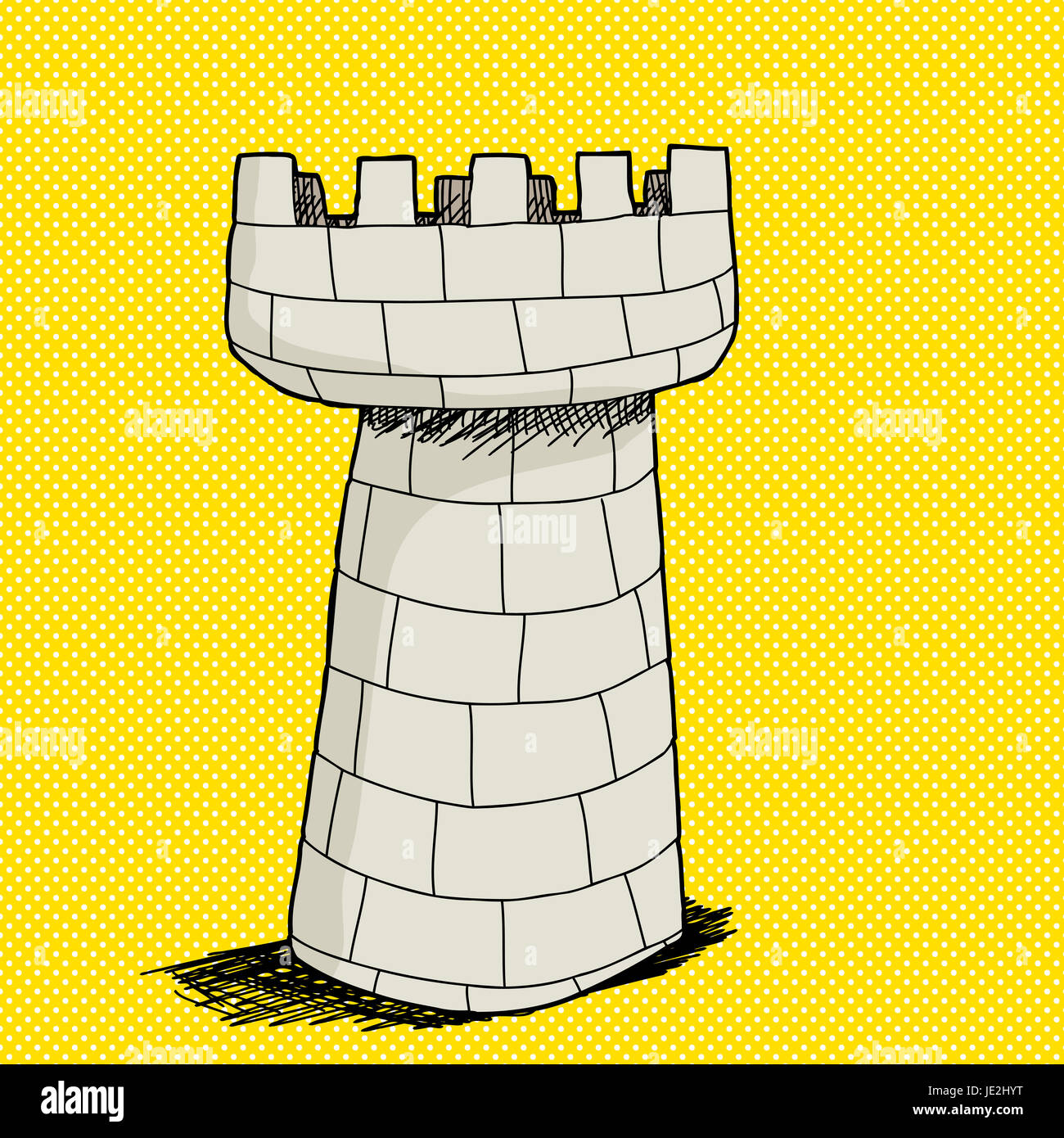 hand drawn cartoon castle tower stockfotos hand drawn cartoon castle tower bilder alamy. Black Bedroom Furniture Sets. Home Design Ideas