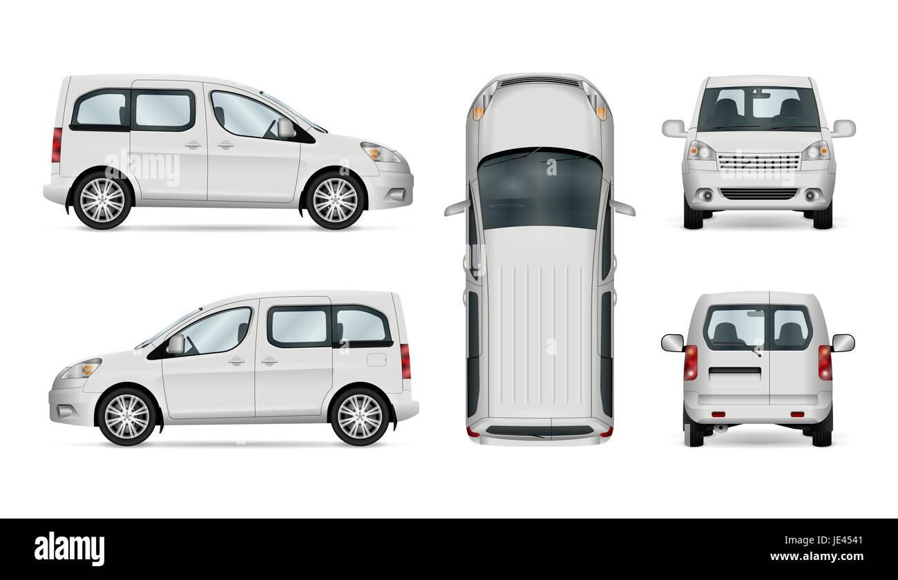 Isolierte Auto, Vorlage für Auto, branding und Werbung. Nutzfahrzeug ...