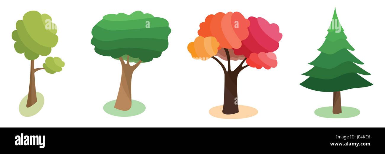 four seasons cartoon illustration stockfotos  four