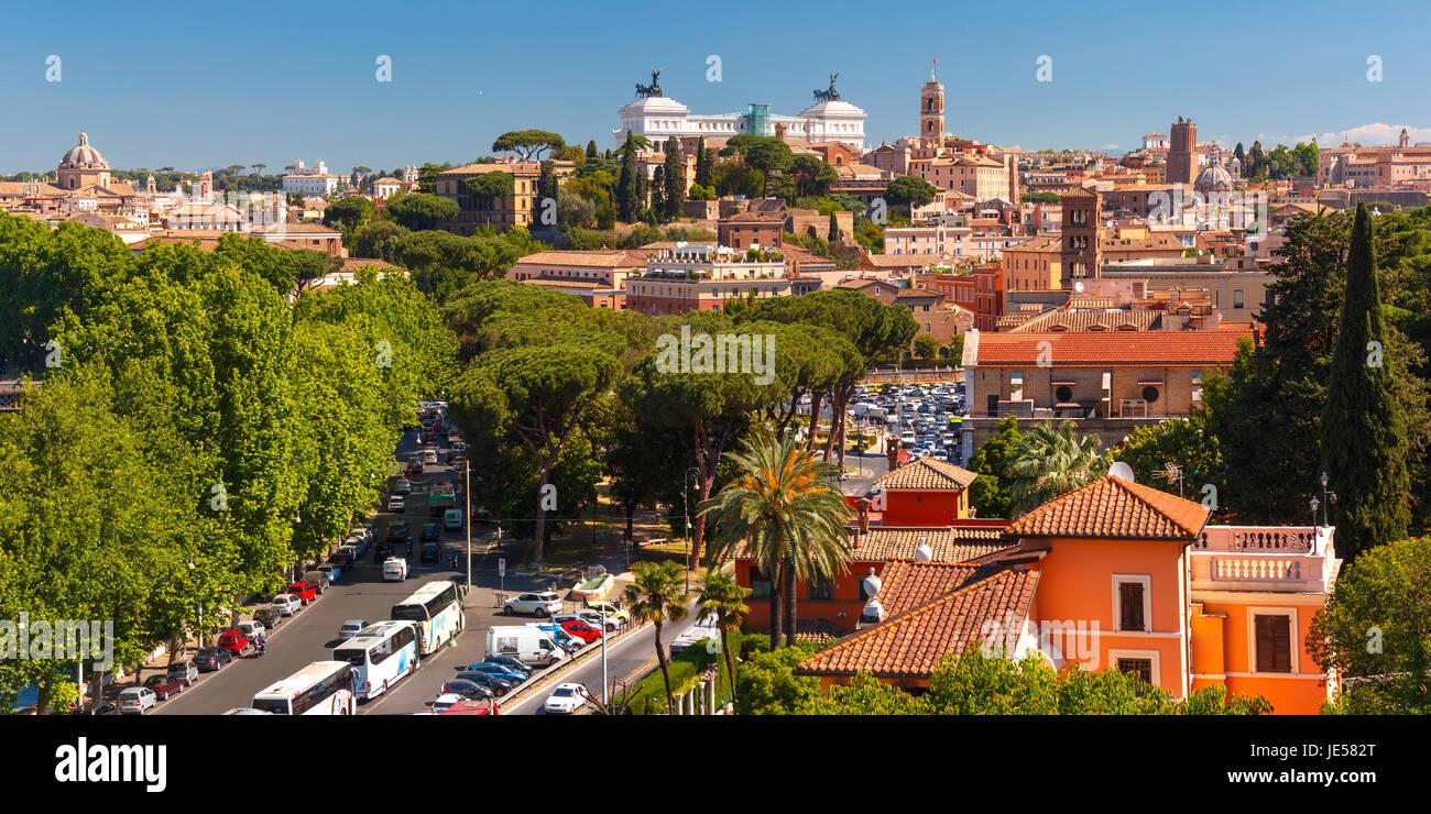 Aerial Panoramablick über Rom, Italien Stockbild